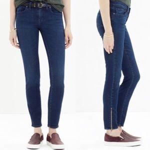 MADEWELL Skinny Skinny Ankle Zip Denim Jeans